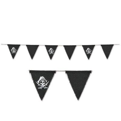 Beistle Pirate Fabric Pennant Banner 59889
