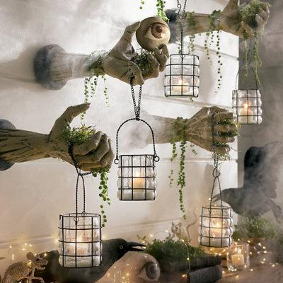 Creepy Hands With Lanterns, Set Of Two Halloween Decoration - Grandin Road