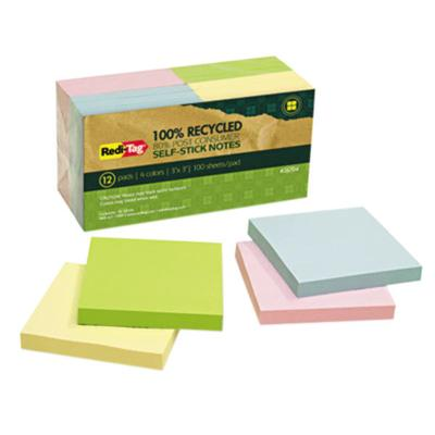 "REDI-TAG 26704 3"" x 3"" Assorted Colors Self-Stick Notes -..."