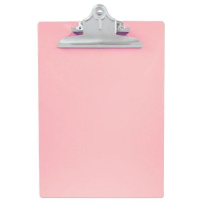 """Saunders 21800 1"""" Capacity 12"""" x 8 1/2"""" Pink Recycled Pla..."""
