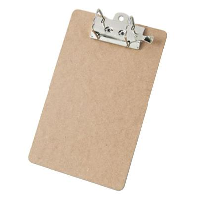 "Saunders 05712 2"" Capacity 12"" x 8 1/2"" Brown Arch Clipboard"