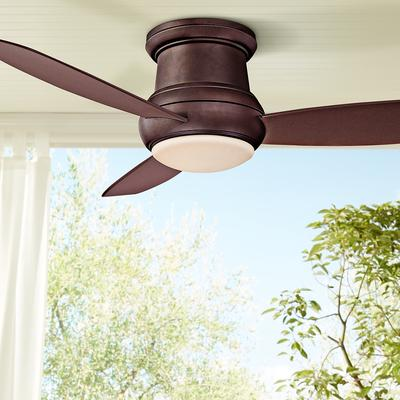 Minka aire concept ii 52 ceiling fan ceiling fans compare prices minka aire 52 concept ii bronze wet rated flushmount led aloadofball Images