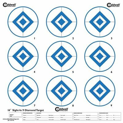 Caldwell Shooting Supplies Sight In Target 9 Diamond, Hi Contrast Blue - Sight In Target, 9 Diamond,
