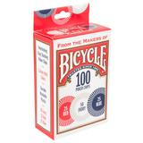 Bicycle 100-Piece 2-Gram Plastic Poker Chip Set