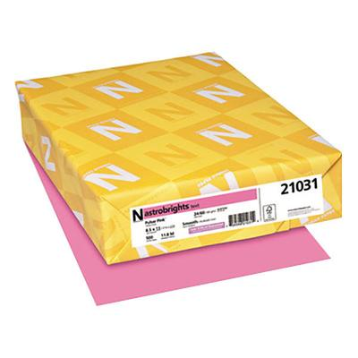 "Astrobrights 21031 8 1/2"" x 11"" Pulsar Pink Ream of 24# C..."