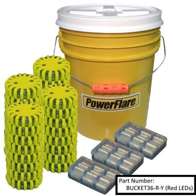Powerflare Outdoor Gear 36-Pack Bucket of Lights White Le...