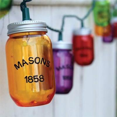 Dennis East 70022 - 10 Light Green Wire Colored Mason Jar...