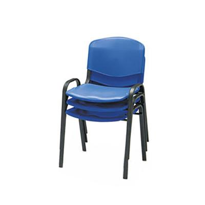 Safco 4185BU Blue Plastic Contour Stacking Chair with Ste...
