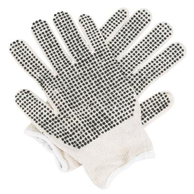 Standard Weight Natural Polyester / Cotton Work Gloves wi...