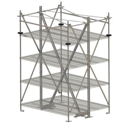 "Metro SA48TTIS Super Erecta Seismic Top-Track 48"" Station..."