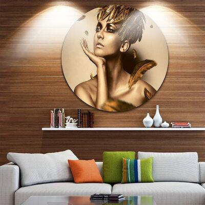 DesignArt 'Sexy Woman in Gold Hat' Photographic Print on ...