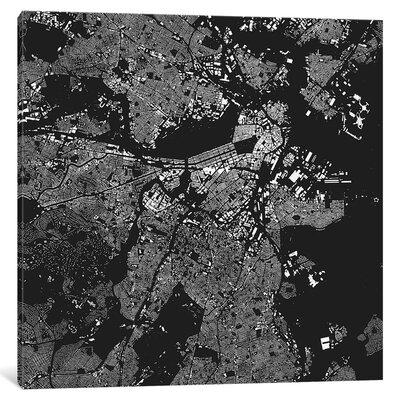 East Urban Home 'Boston' Vertical Graphic Art on Wrapped ...