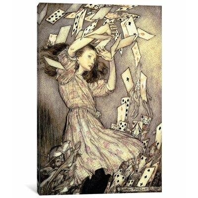 East Urban Home 'Alice and the Pack of Cards, 1907' Paint...