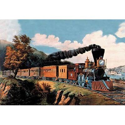 Buyenlarge Steam Locomotive' by Currier and Ives Painting...