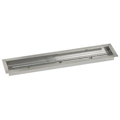 American Fireglass Stainless Steel Linear Channel 36 Inch x 6 Drop-In Pan With Ignition [Kitchen]