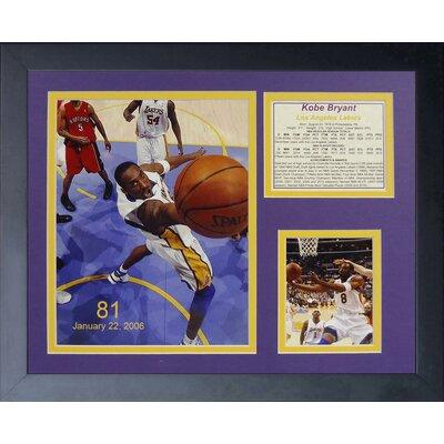 Legends Never Die Kobe Bryant 81 Point Game Framed Memora...