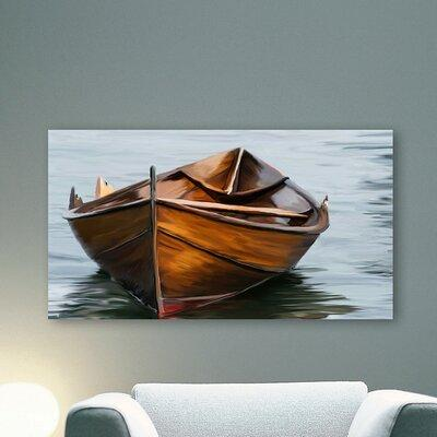 PTM Lonely Boat Photographic Print on Canvas 9-4466JMB / ...