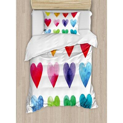 Ambesonne Valentine Duvet Cover Set nev_32111 Size: Twin