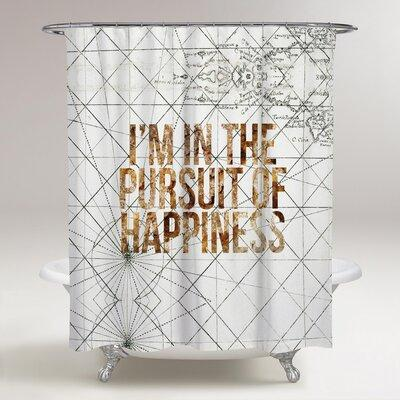 Ivy Bronx Lohmann Pursuit of Happiness Shower Curtain BF0...
