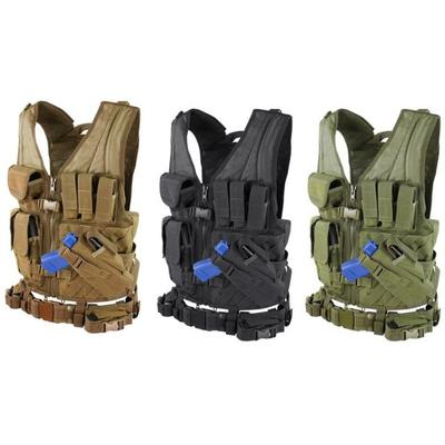 Condor Tactical Vests Cross Draw Vest Coyote Brown CV498 ...