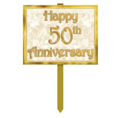 The Holiday Aisle Futral Anniversary Garden Sign BI077122