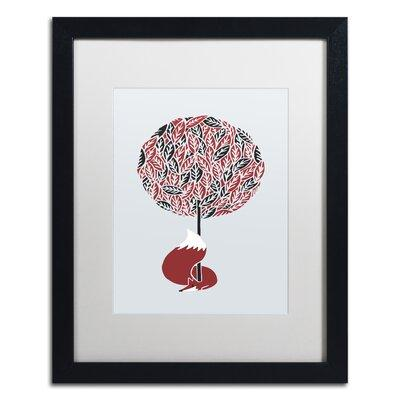 "Trademark Art ""Cherry Tree Fox"" by Robert Farkas Framed G..."