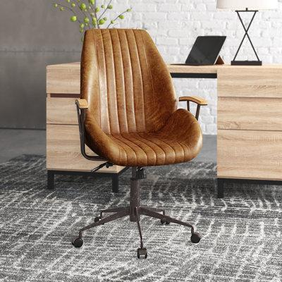 17 Stories Lisk Genuine Leather Executive Chair BF091547 ...