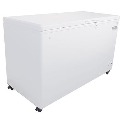 Kelvinator Commercial KCCF170WH 59.5 Mobile Chest Freezer w/ Wire Storage Basket - White, 115v