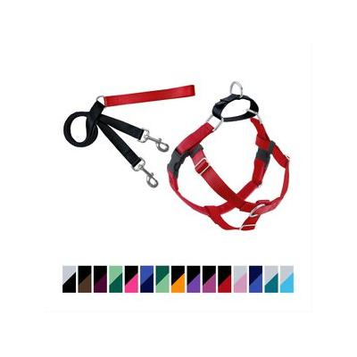 "2 Hounds Design Freedom No Pull Dog Harness & Leash, Red, 1-in, Medium; Make leash training a walk in the park with the 2 Hounds Design Freedom No Pull Dog Harness and Leash. The patented design works by discouraging what's known as the ""opposition..."