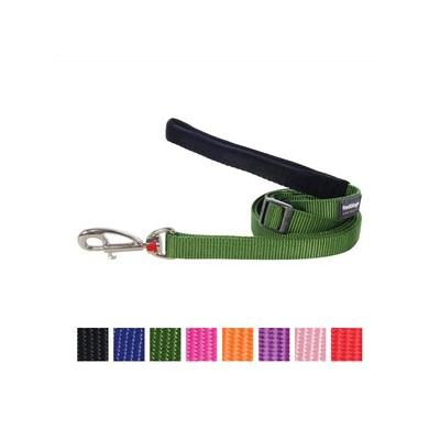 Red Dingo Classic Adjustable Dog Leash, Green, Medium; Go everywhere in style with the Red Dingo Classic Dog Lead. Designed to be ultra-durable and wearable, this lead is as functional as it's comfortable. Made with premium nylon webbing, abrasion...