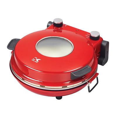 Kalorik High Heat Stone Pizza Oven, Red