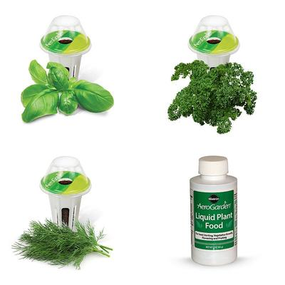 Miracle-Gro AeroGarden Gourmet Herb 3-Pod Seed Kit, Multicolor