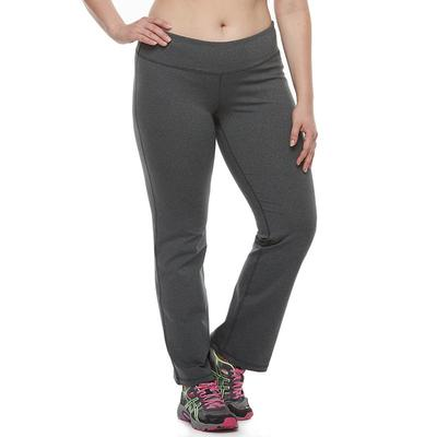 Petite Tek Gear® Shapewear Bootcut Yoga Pants, Women's, Size: Pl Short, Dark Grey