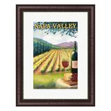 Metaverse Art Napa Valley Ad Framed Wall Art, Multicolor | White Wine Red