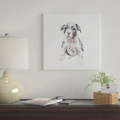 East Urban Home 'Pit Bull Puppy' Print on Canvas ETRB4755...
