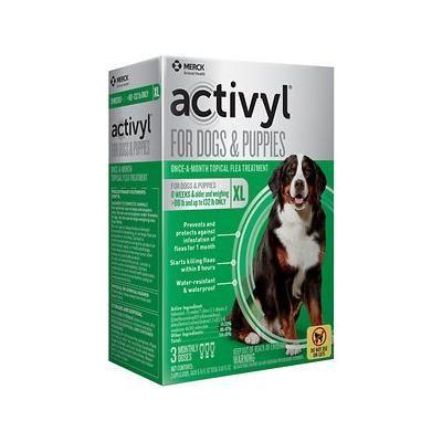 Activyl Flea Treatment for Extra Large Dogs & Puppies, 89-132 lbs, 3 treatments