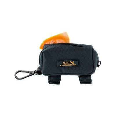 Mighty Paw Poop Bag Holder, Black/Orange