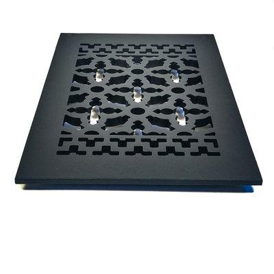 """Acorn 6"""" x 10"""" Cast Iron Grille in Black GRABG Opening Ty..."""