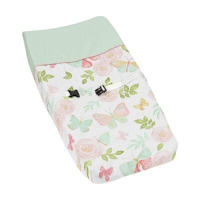 JoJo Designs Butterfly Floral Changing Pad Cover Pad-Butt...