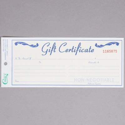 Rediform RED98002 Gift Certificate with #10 Envelope, 25 Per Pack