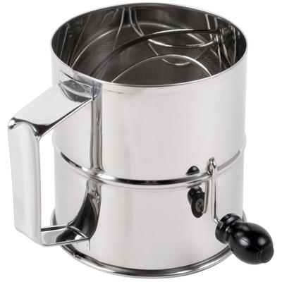 Update International 8 Cup Stainless Steel Rotary Flour S...