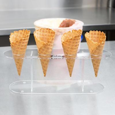 Choice 4 Hole Acrylic Ice Cream Cone Holder