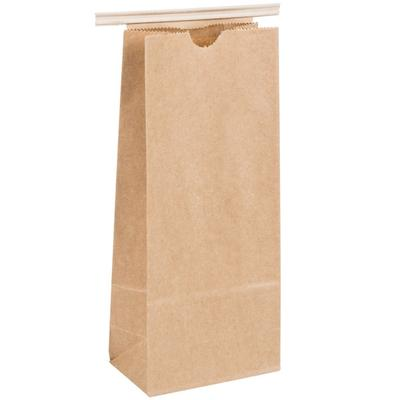 1 lb. Brown Kraft Customizable Paper Coffee Bag with Recl...