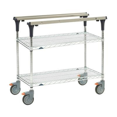 Metro MS1824-BRBR 2 Level Mobile PrepMate MultiStation w/ Wire Shelving - 26L x 19.4W x 39.13H