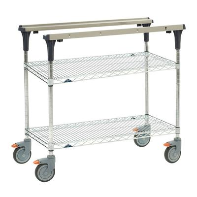 Metro MS1848-BRBR 2 Level Mobile PrepMate MultiStation w/ Wire Shelving - 50L x 19.4W x 39.13H