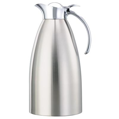 Service Ideas 982C20BS 2 liter Coffee Server w/ Flip Top Stopper Lid, Brushed Stainless