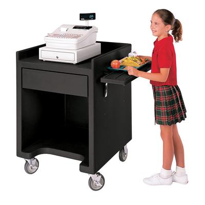 Cambro ES28RL110 Black Cash Register / Equipment Stand wi...
