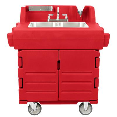 Cambro KSC402158 Hot Red CamKiosk Portable Self-Contained...