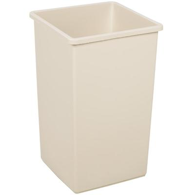 Continental 25BE Beige Swingline - 25 Gallon Square Trash...