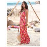 Geometric Maxi Dress Dresses - Pink/multi